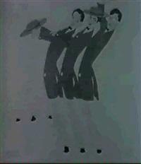 tanz-szenen [med: koloriert] by leo rauth